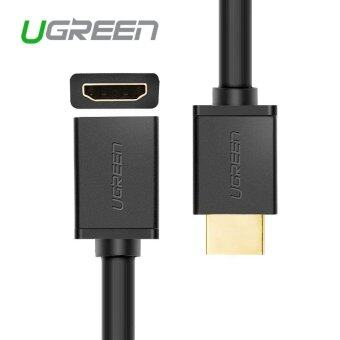 Harga Ugreen 1M HDMI extension cable male to female 1m 2m HDMI to HDMI 4K 3D 1.4v cable for HD TV LCD laptop PS3 projector computer cable