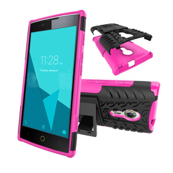 Harga BYT Rugged Dazzle Case for Alcatel One Touch Flash 2 with Kickstand (Rose)