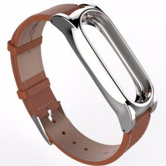 Harga Mijobs Leather Strap For Xiaomi Mi Band 2 Wrist Straps Screwless Bracelet Smart Band Replace Accessories For Mi Band 2