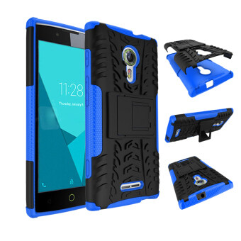 Harga Phone Case For Alcatel One Touch Flash 2 Tough Impact Case Heavy Duty Armor Hybrid Anti-knock Silicon Rubber Hard Cover