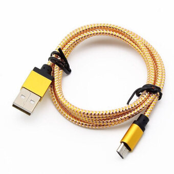 Harga JinGle For Android 1M Micro USB A to USB 2.0 B Braided Fast Data Sync Charging Cable (Gold)