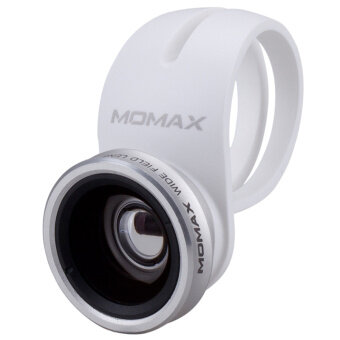 Harga Momax X-Lens Universal Clip 2 In 1 Superior Lens Wide Angle Macro Smartphone Lens (Silver)