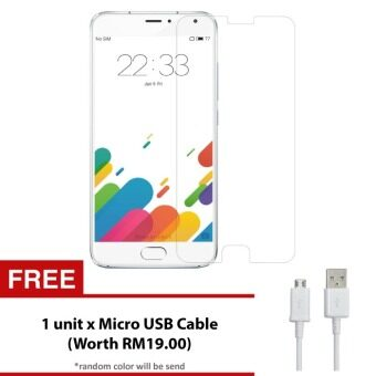 Harga Meizu M1 Note Tempered Glass Screen Protector + FREE Micro USB Cable