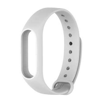 Harga Original Mijobs Replace Strap for Xiaomi Mi Band 2 Version MiBand 2 Silicone Wristbands for Mi Band 2 Smart Bracelet for Xiao Mi Band 2 – White