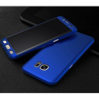 Harga 360 Degree Full Body Protection Cover Case With Tempered Glass for Samsung Galaxy J7 Prime (Blue)