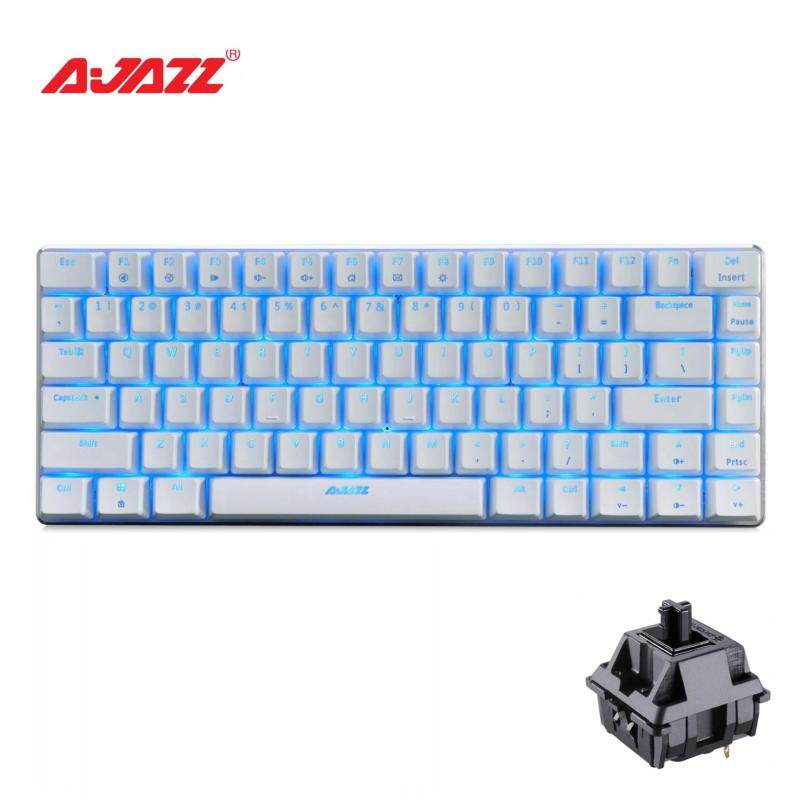 Jm Gaming Malaysia Ajazz Ak33 White Black Switch Backlit Led Mechanical Gaming Keyboard Gold Usb Plug