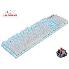 【JM GAMING MALAYSIA】AJAZZ OFFICIAL ROBOCOP MECHANICAL GAMING KEYBOARD ,WIRED,BLACK AND WHITE,DOTA2,CS GO,OVERWATCH,LEAGUE OF LEGEND ( RED SWITCH ) Malaysia