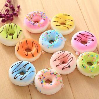 Kawaii Mini Cute Hello Kitty Sweet Donut Squishy Phone PendentHanging Drop