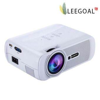 Leegoal 1000 Lumens LCD LED Mini Projector 1080P HD Home Cinema Theater Projector (White, US Plug)