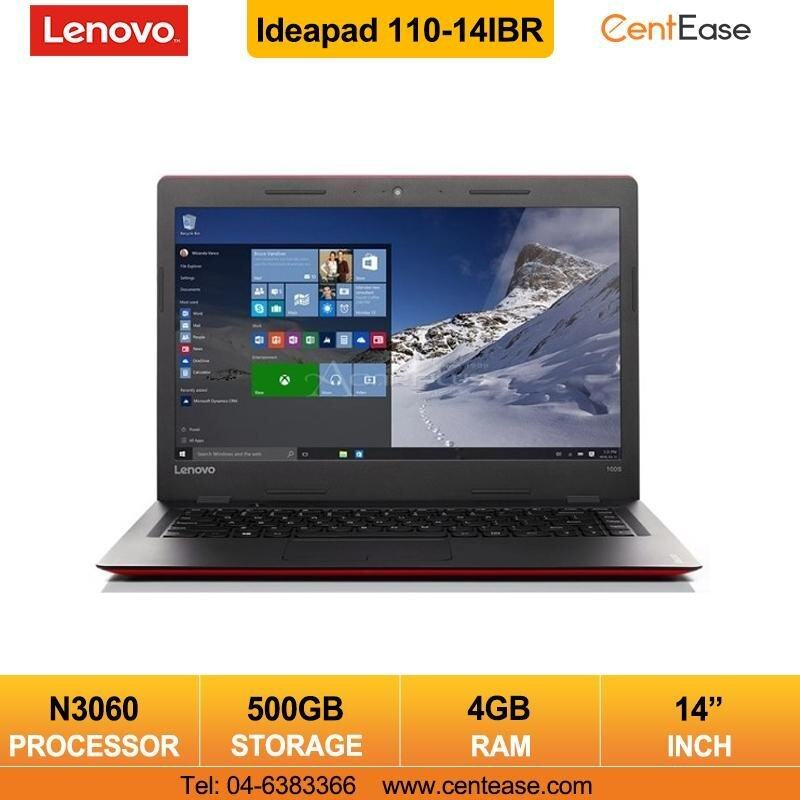 Lenovo Ideapad 110-14IBR Laptop Notebook- Windows 10/ Celeron/ Red Malaysia