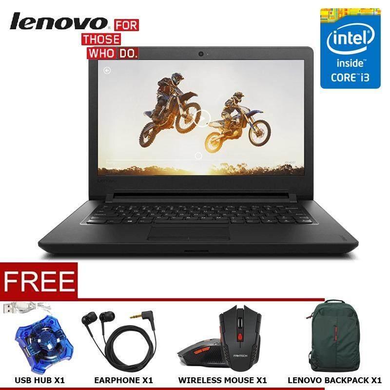 LENOVO IDEAPAD 110-14ISK SERIES Intel Core i3 Notebook/Laptop (INTEL i3-6006U/4GB/1TB/14HD/DVDRW/DOS) Malaysia