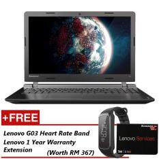 Lenovo Ideapad 110-15ACL MTM-80TJ00LWMJ 15.6 Laptop Black Free Lenovo G03 HR Band + 1 Year Warranty Extension Malaysia