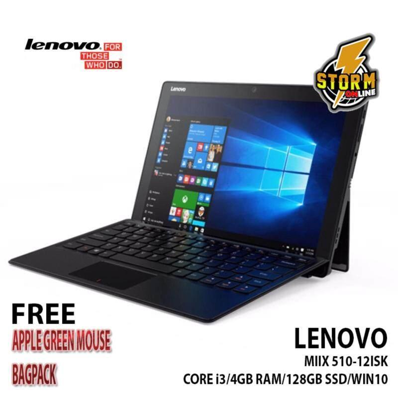 Lenovo Miix 510-12ISK-Core i3 4GB RAM 128GB PCIE SSD 12.2 FHD Malaysia