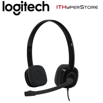 Harga Logitech Stereo Headset With Mic - H151 - Black