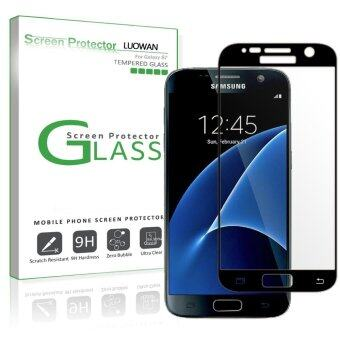 Harga LUOWAN Galaxy S7 Screen Protector Glass (Full ScreenCoverage),Bubble Free for Samsung Galaxy S7 Tempered Glass ScreenProtector 2016(Black)