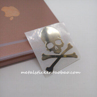 Mastermind Japan pure metal gold-plated skull head metal stickers MMJ tide brand tide male special mobile phone stickers