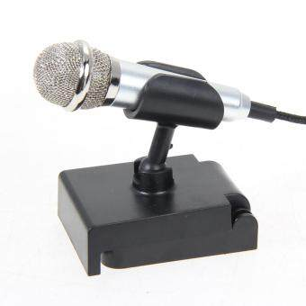 Mini Condenser Microphone with 3.5mm Plug Mobile Phone and MicStand(Silver) - 4