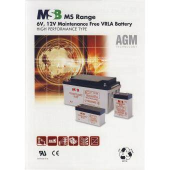 MSB 6V 4.5AH Rechargeable Sealed Lead Battery (MS6-4.5) Malaysia