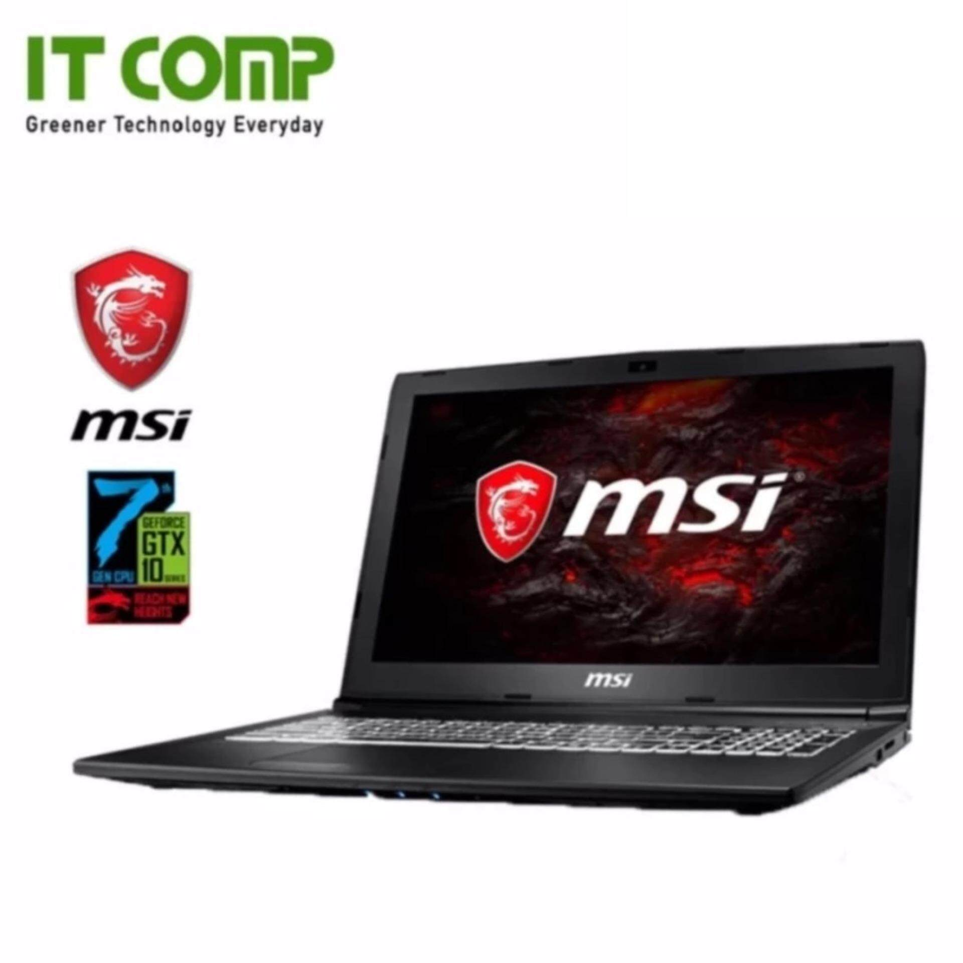 MSI GL62M 7RDX-1022MY 15.6˝ Gaming Notebook (i7-7700HQ/4GB/128GB SSD + 1TB/GTX1050) + Free MSI Gaming Backpack Malaysia