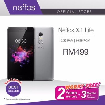 Neffos X1 Lite (2 Years Warranty, Fast Fingerprint Sensor, Octa-Core CPU, Android 7.0, 4G Dual Sim, Grey/Gold)