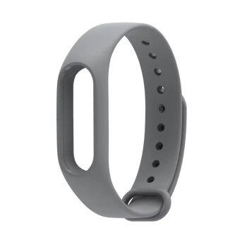 New Colorful Silicone Strap Belt For Xiaomi Mi Band 2 ReplacementWrist Straps Wristband Bracelet for Mi Band 2 Accessories - Grey