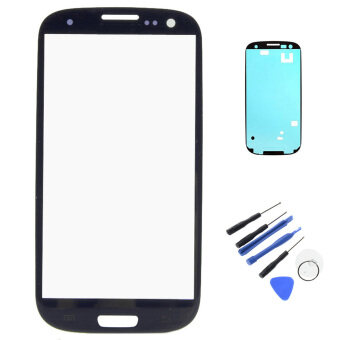 Harga New For Samsung Galaxy S3 I9300 Outer LCD Touch Screen Front GlassLens With Bezel Frame Tape Adhesive Repair Tools
