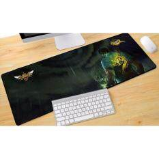 New LOL Rubber Speed Gaming Mouse Pad Keyboard Large XL Size 700*300*3MM Malaysia
