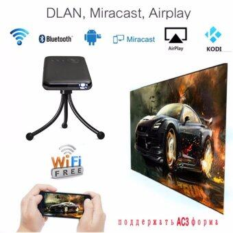 Newest Mini Pocket LED Projector Android 4.4 RK3128 1G/8G PortableVideo Projector 2.4G/5G WiFi For Home Theater - 2