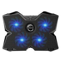 niceEshop KOBWA Laptop Cooler Cooling Pad Stand Ultra-quiet Gaming Notebook Cooler For 15.6-17 Inch Laptops With 1200 RPM 4 Fans, Dual USB Port And Multi Tilt Angle Option.(Blue) Malaysia