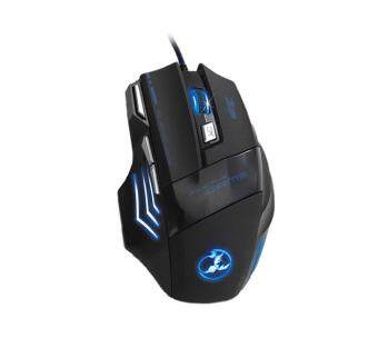 niceEshop Programable 7 Button 5500 DPI LED Wired Optical Gaming Mouse For PC (Black) Malaysia