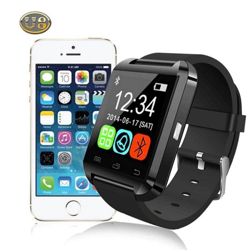 niceEshop U8 Smart Bluetooth Watch Call Message Reminder Sleep Monitor For Android - Black Malaysia