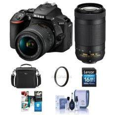 Nikon D5600 DSLR Camera Kit w/AFP DX 18-55mm f/3 5-5 6G VR & AFP DX  70-300/4 5-6 3G Lenses - Bundle With camera Case, 16GB SDHC Card, Cleaning  Kit,