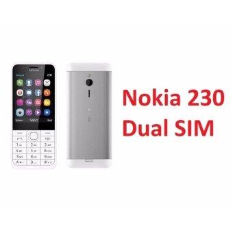 Nokia 230 Dual Sim (Silver White) Original Nokia Malaysia Set