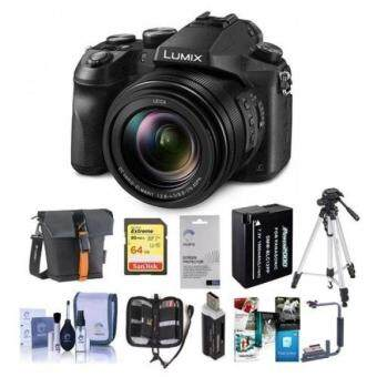 Panasonic Lumix DMC-FZ2500 Digital Camera - Bundle aith Camera Case, 64GB SDxC U3 Card, Spare , Tripod, Flip Flash Bracket, Memory Wallet, Cleaning Kit, Software Package, and More