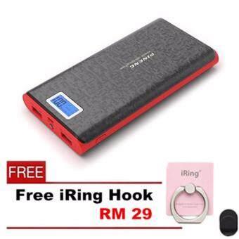 PINENG PN-920 20000mAh Power Bank - Black- Free iRing Hook