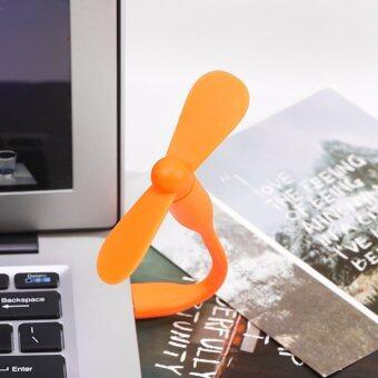 Portable Flexible USB Mini Cooling Fan Cooler for Laptop Desktop Computer (Orange) Malaysia