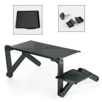 Portable Folding Laptop Desk Adjustable Computer Table Stand Tray