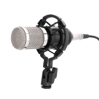 Harga Professional Audio Condenser Microphone Set Studio Sound Recording Mic with Shock Mount