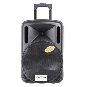Harga Redfox Trolley Bluetooth 12' Speaker (TF+FM+line in+USB+2 WirelessMIC )