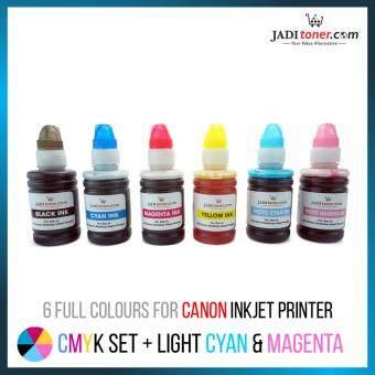 Refill Ink (6 in 1 Full Set - 100ml) For Canon Inkjet Printer For CISS Refill Dye Based Ink