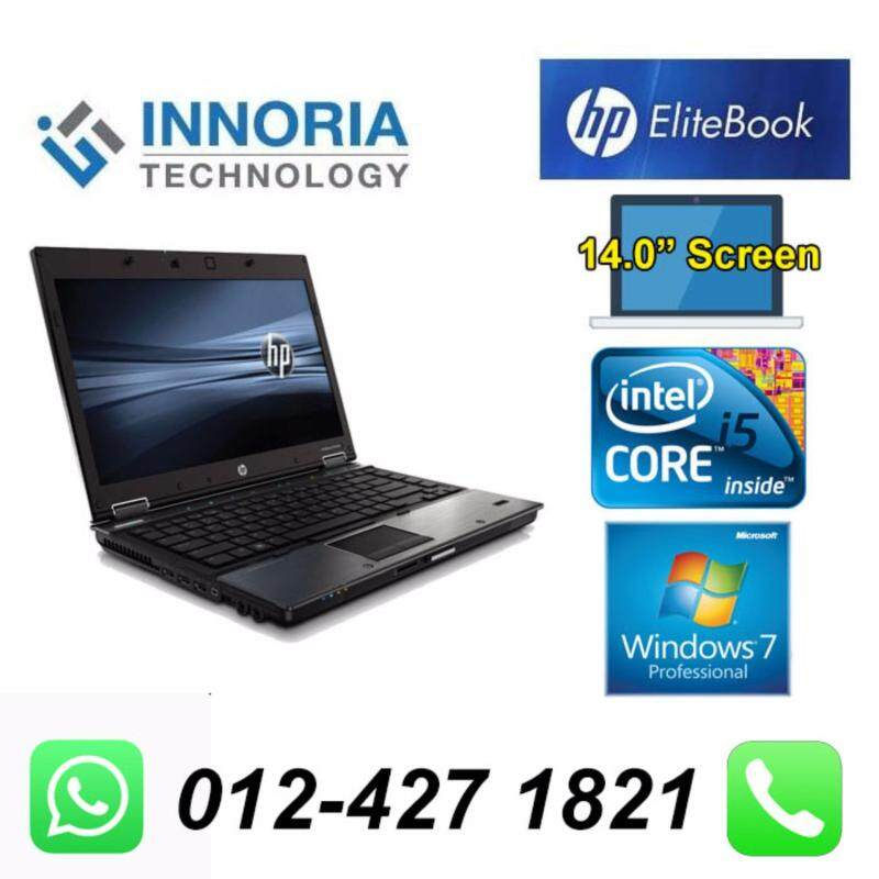 (Refurbished Notebook) HP Elitebook 8440p Laptop / Intel Core i5-520M CPU / 4GB Ram / 250GB HDD / 14.0 inch Screen / Windown 7 Malaysia