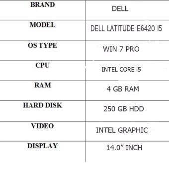 (Refurbished Notebook)DELL LATITUDE E6420 I5 Malaysia