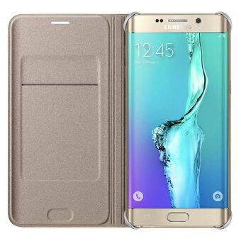 Samsung Galaxy S6 edge Plus 4G Plus Flip Wallet Gold