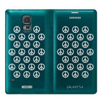 Samsung S5 Original LUXURY Wallet FLIP Case (MOSCHINO EDITION) - 2