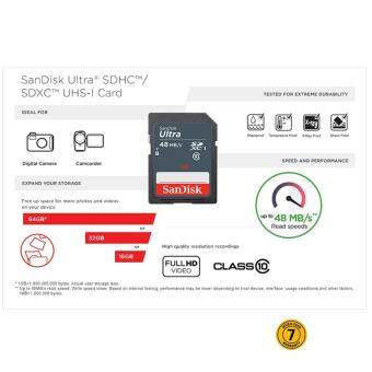 SanDisk Ultra 32GB 48MB/s Class 10 SDHC UHS-I Memory Card