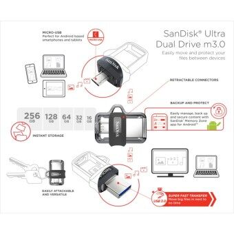 SanDisk Ultra Dual Drive 32GB m3.0 OTG USB Flash Drive for Android & Computers