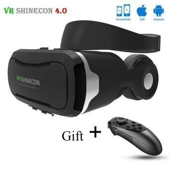 "Shinecon VR 4.0 Virtual Reality 3D Glasses Headset VR BOX+Headphone/Mic for 4.7-6.0"" Mobile Smartphone +gamepad"