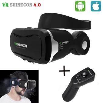 "Shinecon VR 4.0 Virtual Reality 3D Glasses Headset VR BOX+Headphone/Mic for 4.7-6.0\"" Mobile Smartphone +Original Controller"