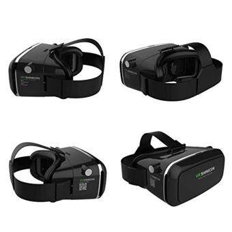 Shinecon VR Virtual Reality 3D Headset Glasses Google Cardboard 3DVR Box Glasses For 4.7-6 inch Smart phone+ Gamepad