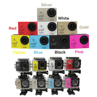 SJ7000 Action Camera 2 Inch LCD Wifi Sports Cam Camcorder (Silver)